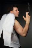 Smocking angel Royalty Free Stock Photos