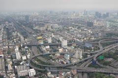 Smog über Bangkok lizenzfreies stockbild