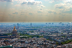 Smog. In a large modern city, Paris Royalty Free Stock Photo