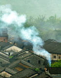Smog. Scenery,travel,asia,china,township,smog Stock Image