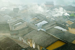 Smog. Scenery,travel,asia,china,township,smog Stock Photos