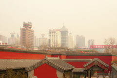 Smog air pollution china shenyang Beijing city Stock Photography
