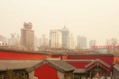 Smog air pollution china shenyang Beijing city Stock Photography