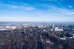 Smog and air pollution in Katowice. Silesia, Poland Stock Image