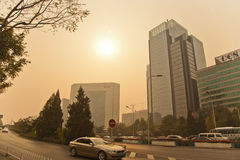 Smog in Beijing Stock Photography