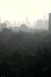 Smog in Cina fotografia stock libera da diritti