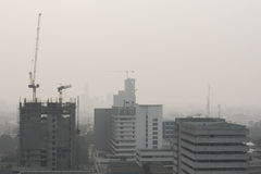Smog city. Hatyai city in smog form indonesai royalty free stock images