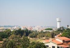 Smog cover the city. Smog cover the Portimao city in Portugal Stock Photo