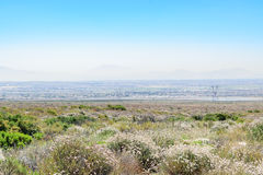 Smog covers the basin. Morning smog in Southern California basin Stock Images