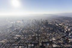 Smog del centro e Sun di Los Angeles Fotografia Stock