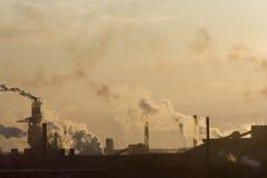 Smog della città Fotografia Stock
