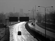 Smog in der Tschechischen Republik Lizenzfreies Stockfoto