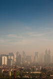 Smog Dome Over A Polluted City Royalty Free Stock Photos