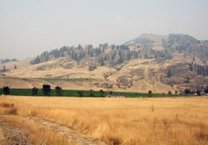 Smog filled air in British Columbia Stock Photography