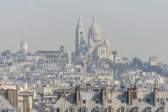 Smog i Paris Royaltyfri Foto