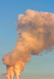 Smog im Himmel stockfoto