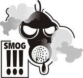 Smog Mask. Fight versus smog in cities Royalty Free Stock Photography