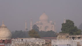 Smog and mist in Agra city, India stock video footage