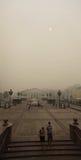 Smog a Mosca, Russia. Quadrato di Manege. Fotografia Stock