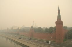 Smog in Moscow -2010 Royalty Free Stock Photography