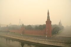 Smog in Moscow -2010 Royalty Free Stock Photos
