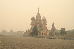 Smog in Moscow -2010 Stock Photography