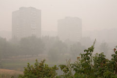 Smog in Moscow Royalty Free Stock Photo