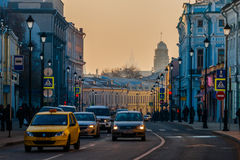 Smog in Moscow, Russia. Thursday, Nov. 20, 2014. Weather: Sun, s Stock Images