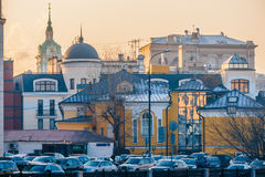 Smog in Moscow, Russia. Thursday, Nov. 20, 2014. Weather: Sun, s Stock Photography
