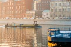 Smog in Moscow, Russia. Thursday, Nov. 20, 2014. Weather: Sun, s Stock Photos