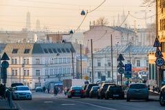 Smog in Moskau, Russland Donnerstag, Nov. 20, 2014 Wetter: Sun, s stockfotografie