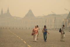 Smog in Moskou -2010 Stock Fotografie