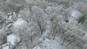 Smog nella città nell'inverno video d archivio