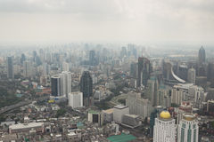 Smog over Bangkok in the city center Royalty Free Stock Photography