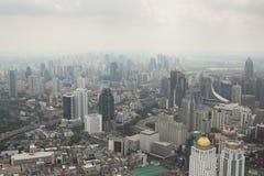Smog over Bangkok in the city center Royalty Free Stock Photography