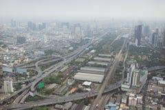 Smog over Bangkok in city center Royalty Free Stock Image