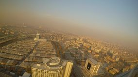Smog over the city blocks of the Turkish city from a height. KONYA / TURKEY - 11.20.2016 central streets of the ancient Turkish city stock footage