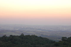 Smog over the city of Campinas Stock Images