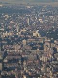 Smog over de stad van Sofia, Bulgarije Royalty-vrije Stock Foto