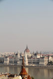 Smog over the Hungarian Parliament Royalty Free Stock Photo