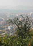 Smog over Kathmandu. Kathmandu in winter. Too much smog. Nepal Stock Image