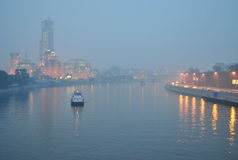 Smog over Moscow Royalty Free Stock Photography