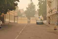 Smog over Moscow Stock Photo