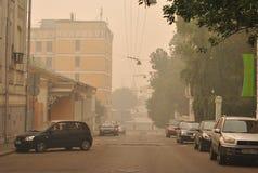 Smog over Moscow Royalty Free Stock Photos