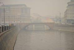 Smog over Moscow Stock Image