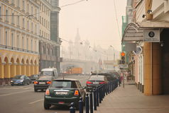 Smog over Moscow Royalty Free Stock Photo