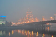 Smog over Moscow Stock Photography