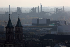 Smog over Ostrava. In Czech Republik Stock Photos