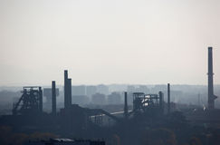 Smog over Ostrava Stock Images