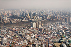 Smog over Santiago, Chile Royalty Free Stock Photos